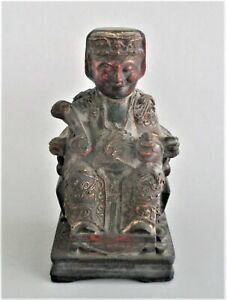 Antique Chinese Statue Figurine Chinese Official 19th Century