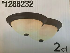 details about project source 2 pack 13 in bronze flush mount ceiling lighting fixtures lights