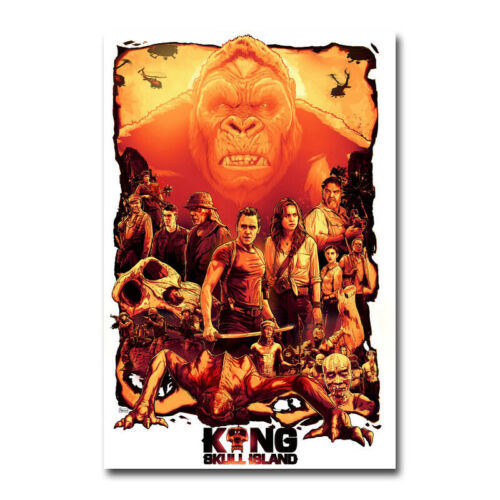 kong skull island king kong new movie art silk poster print 12x18 24x36 inch art posters art