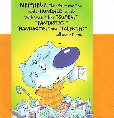 Funny Happy Birthday Nephew Fantastic Handsome Talented Hallmark Greeting Card Ebay