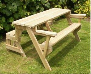 Plans Bench That Folds Into A Picnic Table Emailed To