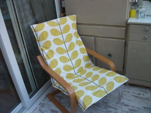canapes fauteuils salons handmade housse pour ikea alme poang chaise tabouret scribble citron motif 3 maison cdnorteimagen cl