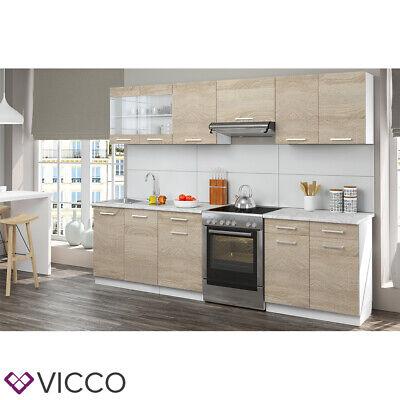 vicco cuisine cuisine integree bloc de cuisine cuisine equipee 270 cm sonoma ebay