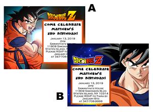 10 Dragonball Z Dragon Ball Z Invitations Birthday Party Invites W Envelopes Ebay