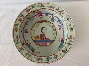 A rare large Chinese antique porcelain basin bowl vase scholar art Qing dynasty