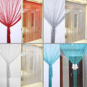 details sur silver silk string porte fenetre salon enfants chambre cuisine rideau afficher le titre d origine