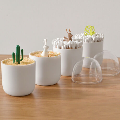 Toothpick-Holder-Container-Dispenser-Box-Cotton-Swab-Storage-Capsule-Organizer