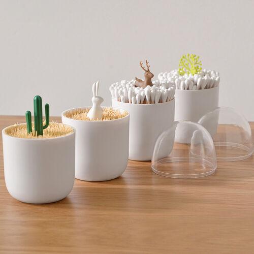 Toothpick-Holder-Container-Dispenser-Box-Cotton-Swab-Storage-Capsule-Organizer