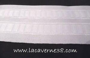 details sur 1 70m ruban galon fronceur ruflette blanc 7cm 70mm de large rideaux couture