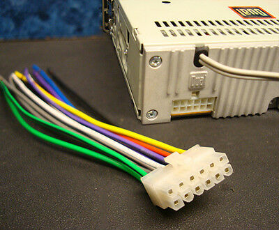 Dual Stereo Wire Harness 12 Pin Radio Power Plug Cd Mp3