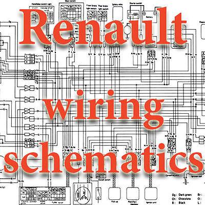 renault dacia wiring diagrams schematics electric 3 dvd  ebay