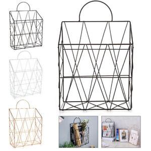 details about modern wire magazine rack newspaper basket wall shelf post storage organizer uk