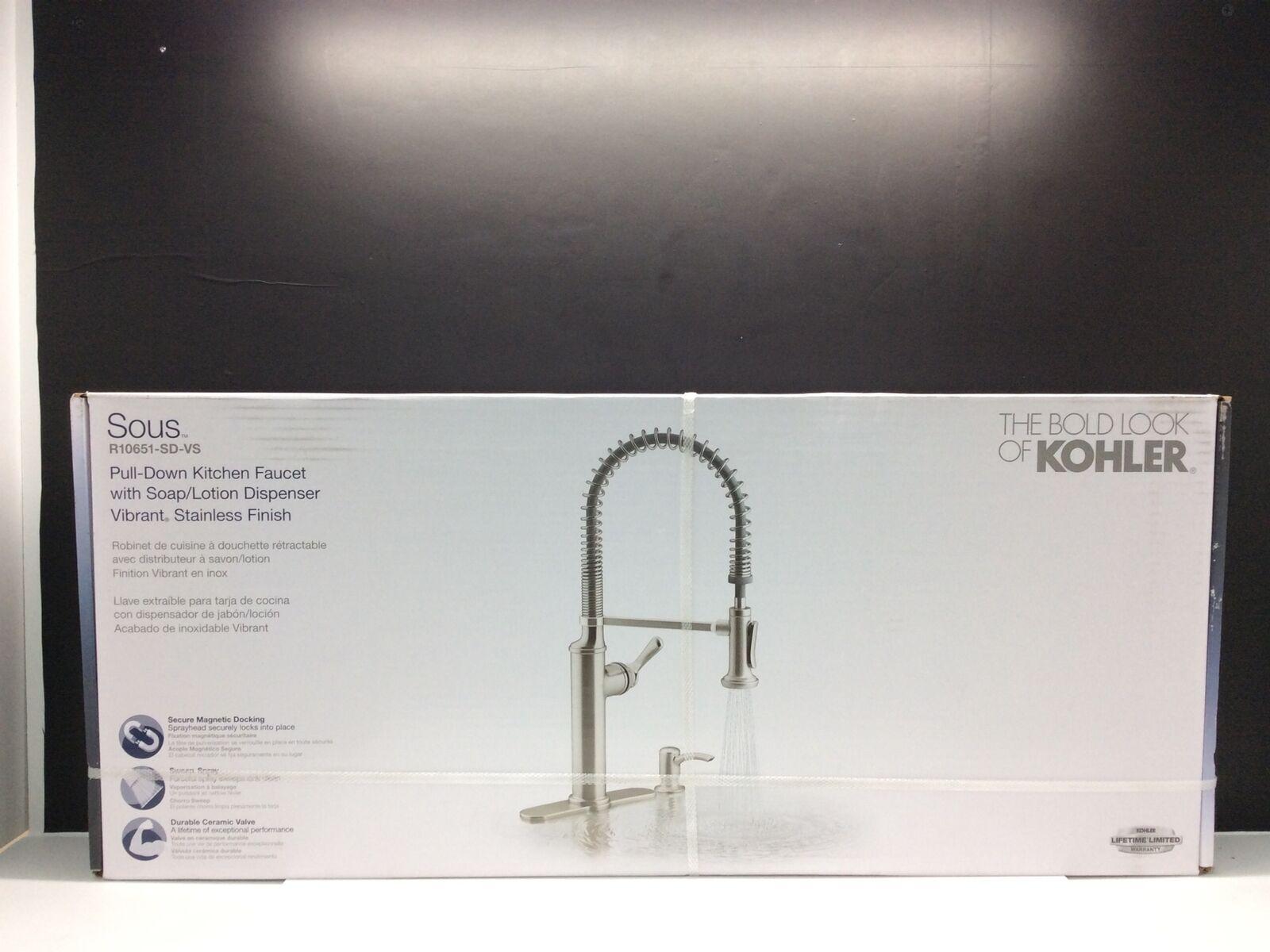kohler k r10651 sd vs pro style pull down sprayer kitchen faucet stainless
