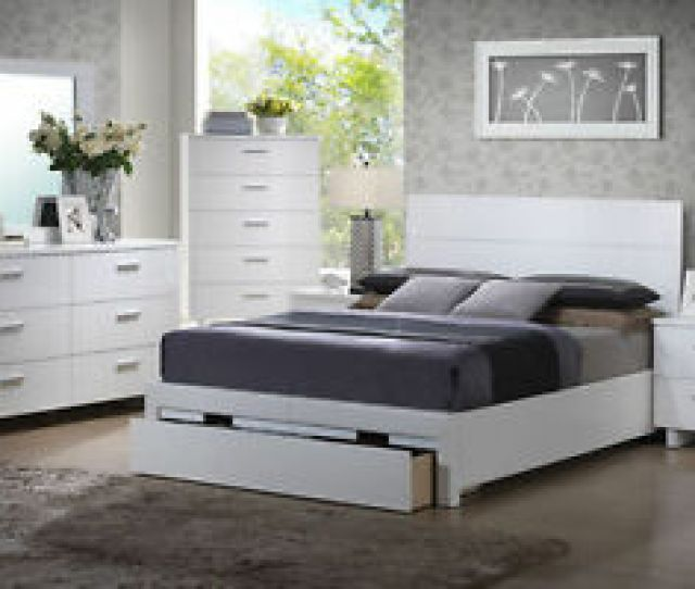 Image Is Loading Modern Decor White Queen Bed Pc Bedroom Set