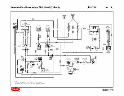 peterbilt 379 family hvac wiring diagrams with  without pcc 04/2004   down  ebay