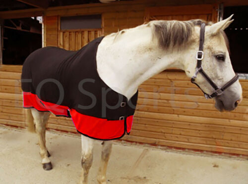 high qualitytwo tone polaire douce refroidisseur cheval voyage tapis 4 6 noir rouge equitation couverture equitation