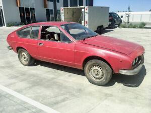 Alfa Romeo 1976 Alfetta GTAm GT rare barn find Bathurst homologation special