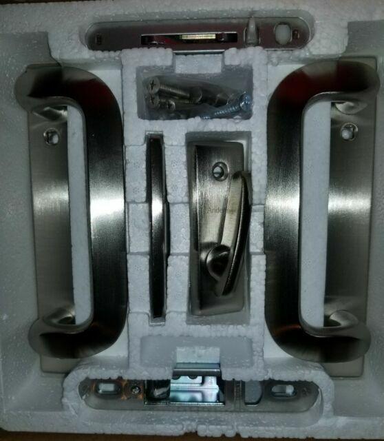 andersen anvers 2 panel gliding patio door hardware set in satin nickel 2565541
