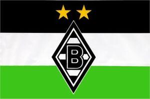 details zu hissflagge fahne borussia monchengladbach logo flagge 100 x 150 cm