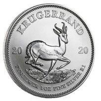 1 oz. Feinsilber 999.9 Südafrika ***Krügerrand*** 2020 - stgl./BU