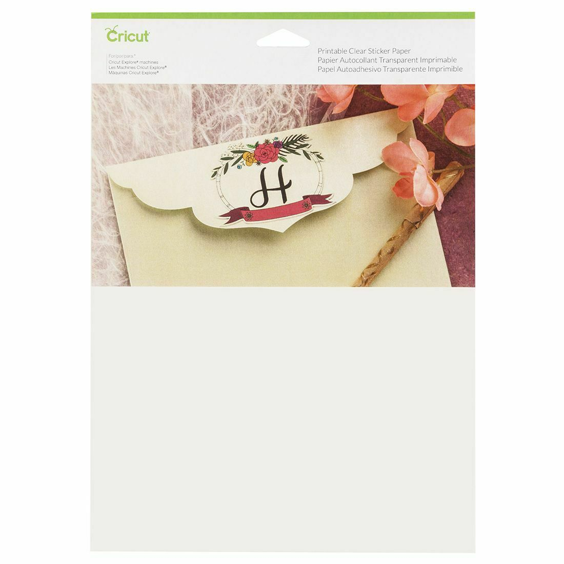 New Cricut Printable Sticker Paper Clear