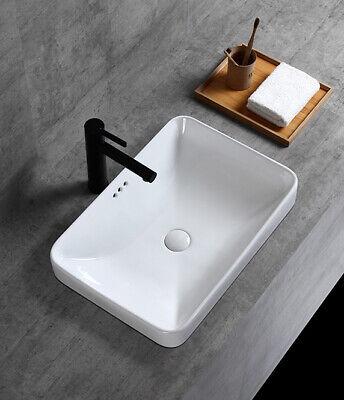 winzo wz6174 rectangle semi recessed bathroom sink ebay