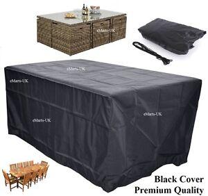 Waterproof Garden Patio Furniture Cover Rectangular Outdoor Rattan Table Cover Ebay