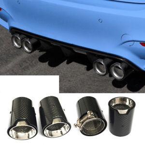 details zu carbon fibre 4x mpe style exhaust tips for bmw m2 f87 m3 f80 m4 f82 f83
