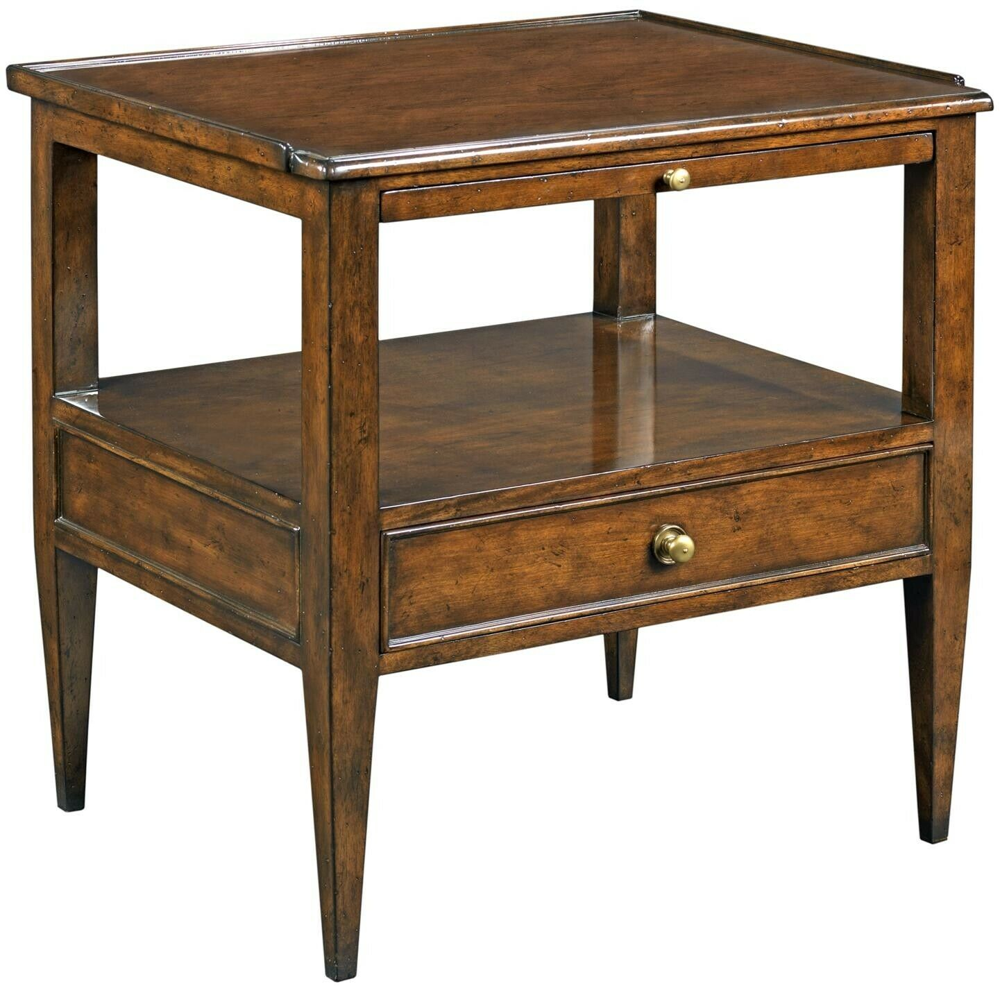 Nightstand Woodbridge Marseilles Hardwood Distressed Cherry Drawer Pullout