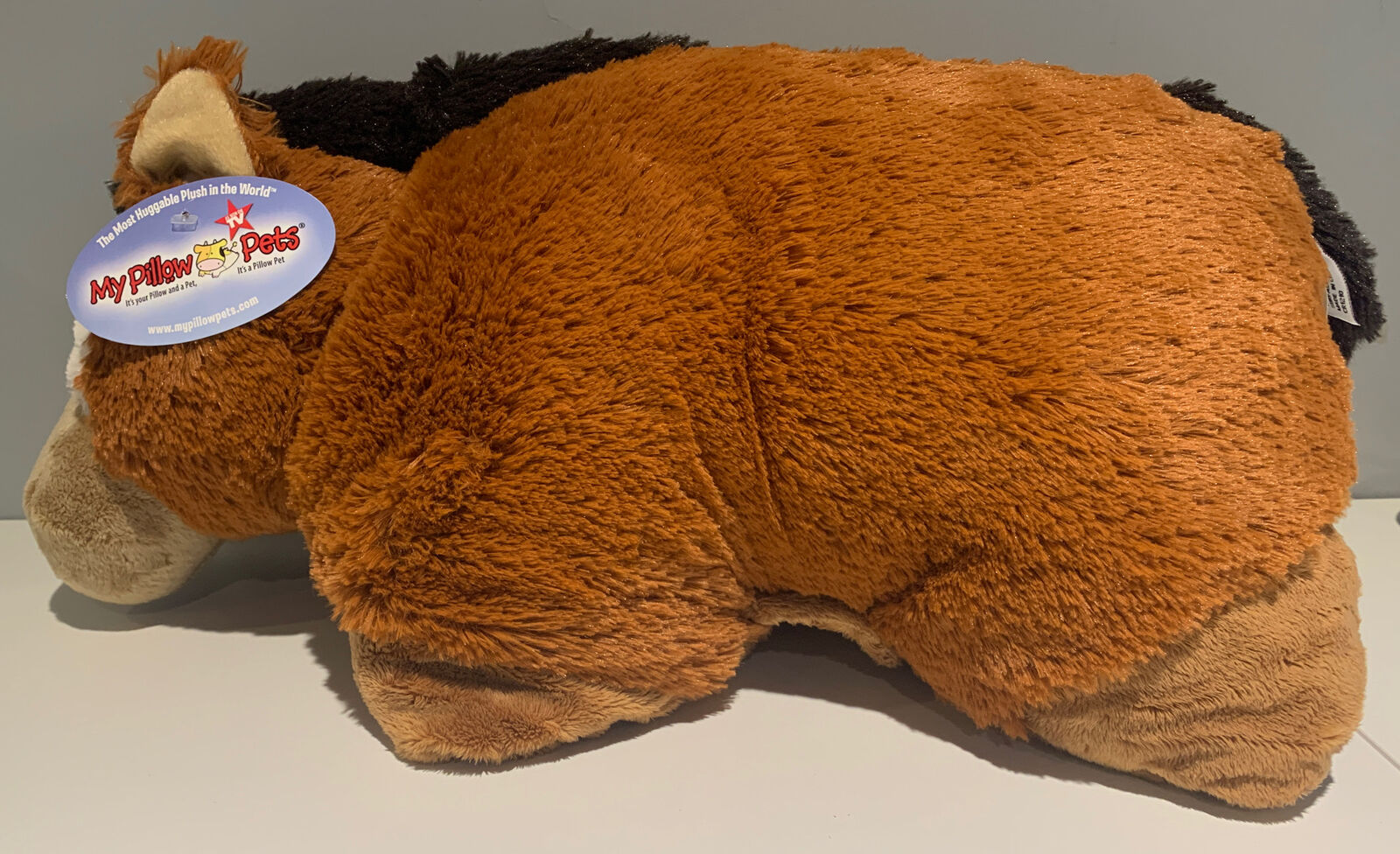 authentic pillow pets sir horse large 18 plush toy gift