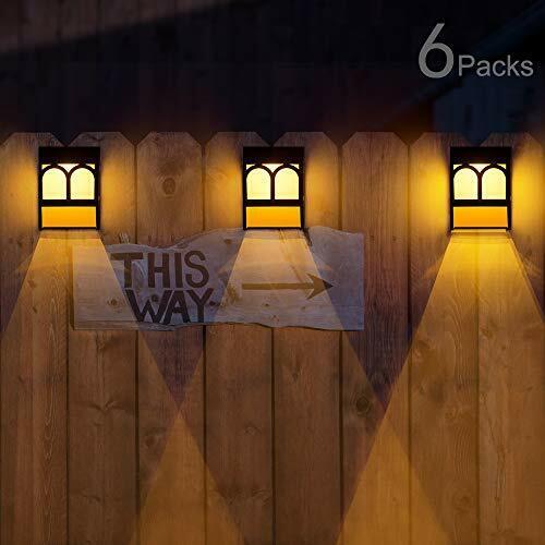 8 pack back yard solar powered light