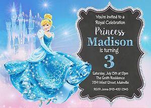 details about cinderella birthday party invitation