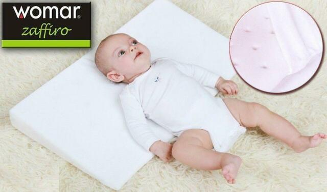 womar baby pillow cot wedge for reflux and congestion big 60x36 cm