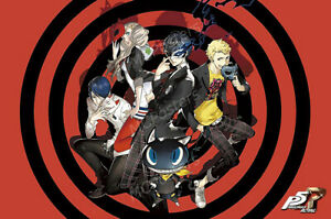 details about rgc huge poster persona 5 royal poster glossy finish ps4 switch nvg289