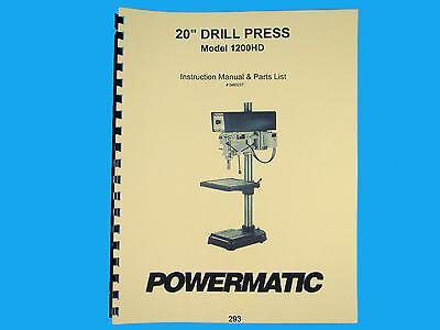 Powermatic Model 1200hd Drill Press