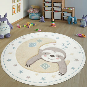 details sur tapis chambre d enfant rond tapis pour enfants fille garcon avec motif paresseux