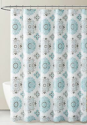 white black taupe peva shower curtain