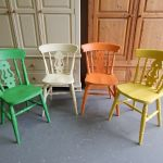 Solid Wood Cross Back Kitchen Dining Chair Country Farmhouse Vintage French For Sale Ebay