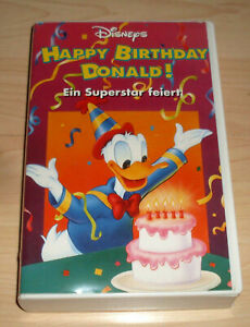 Vhs Film Walt Disney Happy Birthday Donald Zeichentrick Videokassette Ebay