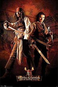 details zu potc captain jack sparrow will turner pirates of the caribbean poster 24x36