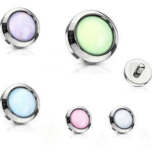 Illuminating Microdermal Piercing Aufsatz Dermal Anchor 1,6mm Leuchtende Steine