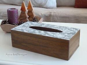 Boite En Bois De Mouchoir Couvercle De Boite A Serviettes Cadeau Pour Elle Ebay