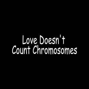 Download LOVE DOESN'T COUNT CHROMOSOMES Vinyl Sticker Decal down ...