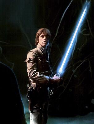 star wars poster seite the empire strikes back luke skywalker light sabre y21 ebay