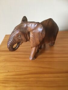 Baby Elephant Hand Carved