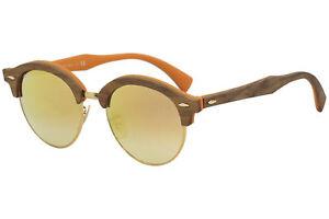 details sur ray ban club bois rond rb4246m rb 4246 m rayban 1218 7o bronze lunettes de soleil 51 mm afficher le titre d origine