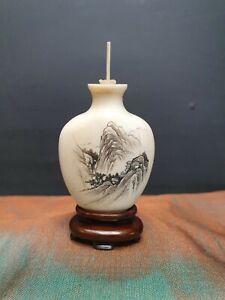 Snuff botte carved polish bovine