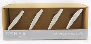 Kenar Home 4 Metallic Silver Modern Metal Nautical Drawer Pulls