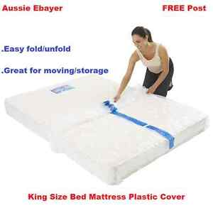 Image Is Loading King Size Mattress Protect Plastic Cover Moving Amp