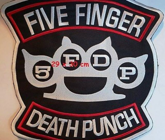 Five Finger Death Punch F Back Patch Free Shipping Ebay